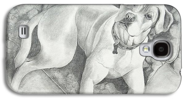 Boxer Drawings Galaxy S4 Cases - Bella My Pup Galaxy S4 Case by Joette Snyder