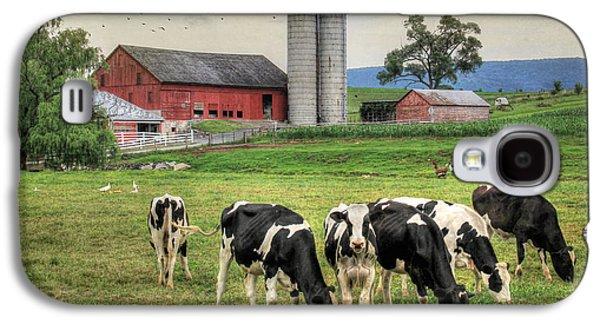 Cow Digital Galaxy S4 Cases - Belleville Cows Galaxy S4 Case by Lori Deiter