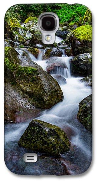 Beautiful Creek Galaxy S4 Cases - Below Rainier Galaxy S4 Case by Chad Dutson