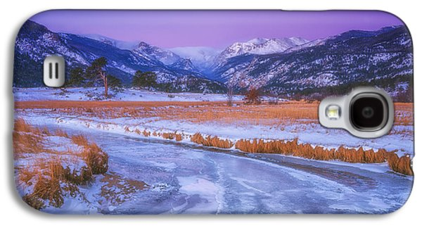 Winter Prints Galaxy S4 Cases - Belt of Venus RMNP Galaxy S4 Case by Darren  White