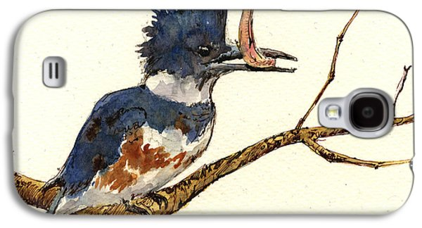 Belted Kingfisher Bird Galaxy S4 Case by Juan  Bosco