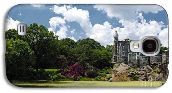 Alga Galaxy S4 Cases - Belvedere Castle Turtle Pond Central Park Galaxy S4 Case by Amy Cicconi