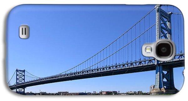 Franklin Galaxy S4 Cases - Ben Franklin Bridge Galaxy S4 Case by Olivier Le Queinec