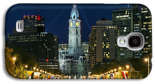 Ben Franklin Parkway And City Hall Galaxy S4 Case by John Greim
