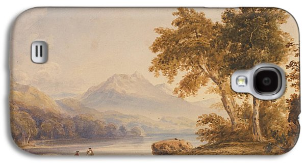 Mountainous Paintings Galaxy S4 Cases - Ben Vorlich and Loch Lomond Galaxy S4 Case by Anthony Vandyke Copley Fielding