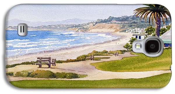 West Galaxy S4 Cases - Bench at Powerhouse Beach Del Mar Galaxy S4 Case by Mary Helmreich