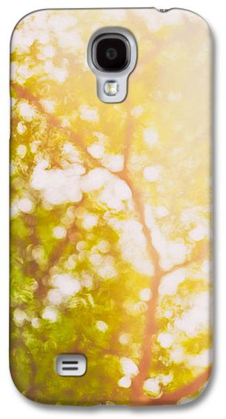 Abstract Landscape Galaxy S4 Cases - Beneath a tree  14 5199   Diptych  Set 1 of 2 Galaxy S4 Case by Ulrich Schade