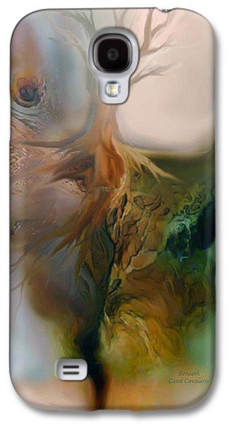 Tree Print Mixed Media Galaxy S4 Cases - Beneath Galaxy S4 Case by Carol Cavalaris