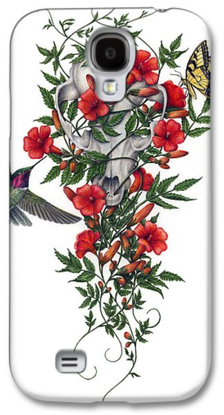 Colored Pencil Paintings Galaxy S4 Cases - Beneath Summers Promise Galaxy S4 Case by Pat Erickson