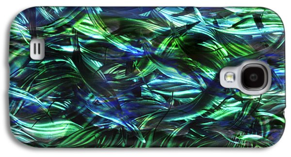 Blue Abstracts Sculptures Galaxy S4 Cases - Beneath the Surface Galaxy S4 Case by Rick Roth