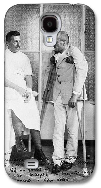 Crutch Galaxy S4 Cases - Benito Mussolini (1883-1945) Galaxy S4 Case by Granger