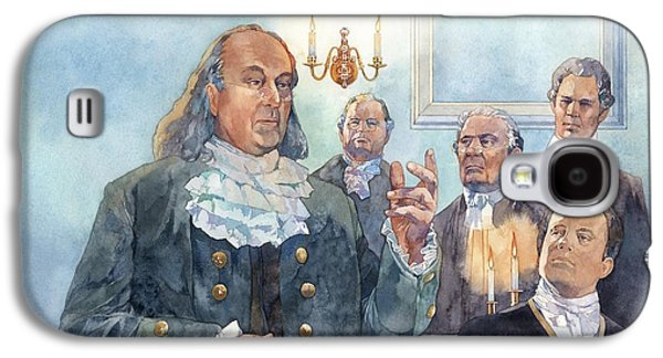 Benjamin Franklin Galaxy S4 Cases - Benjamin Franklin at Albany Congress Galaxy S4 Case by Matthew Frey