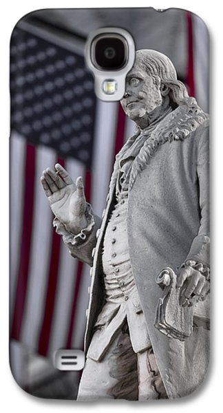 Historic Downtown Franklin Galaxy S4 Cases - Benjamin Franklin Galaxy S4 Case by Eduard Moldoveanu