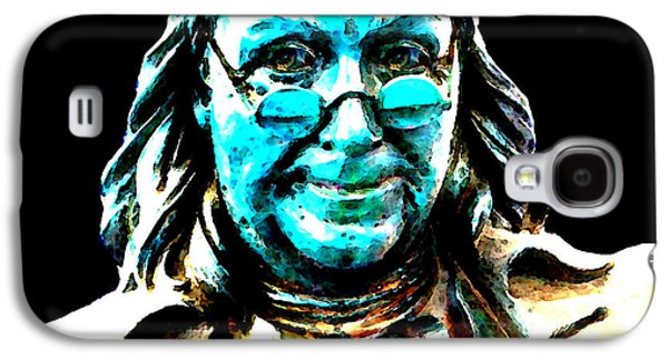 Historical Figures Galaxy S4 Cases - Benjamin Franklin - Historic Figure Pop Art By Sharon Cummings Galaxy S4 Case by Sharon Cummings