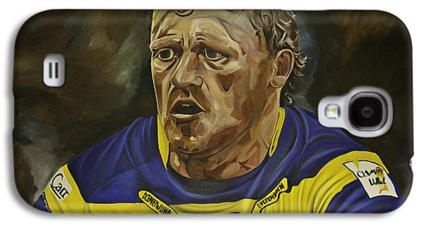 Rugby Paintings Galaxy S4 Cases - Benny Westwood Galaxy S4 Case by James Lavott