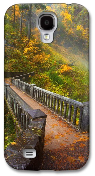 Landscape Acrylic Prints Galaxy S4 Cases - Benson Bridge Fall Colors Galaxy S4 Case by Darren  White