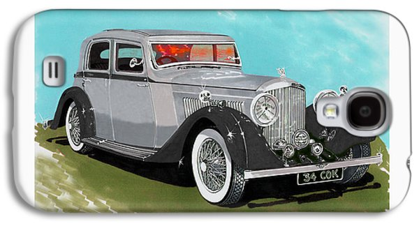 Component Paintings Galaxy S4 Cases - Bentley Sport Sedan 1934 Galaxy S4 Case by Jack Pumphrey