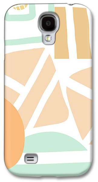 Abstracted Galaxy S4 Cases - Bento 3- abstract shapes art Galaxy S4 Case by Linda Woods