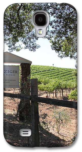 Pastoral Vineyard Photographs Galaxy S4 Cases - Benziger Winery In The Sonoma California Wine Country 5D24592 vertical Galaxy S4 Case by Wingsdomain Art and Photography