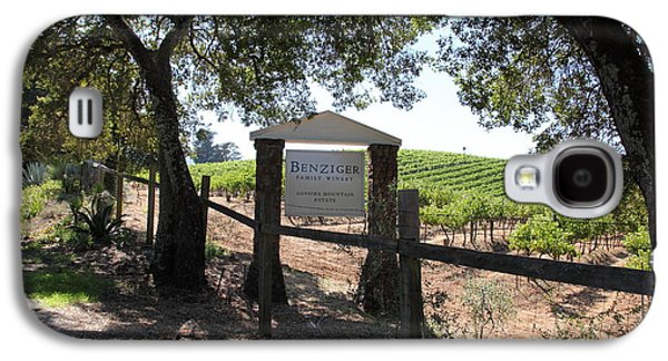 Pastoral Vineyard Photographs Galaxy S4 Cases - Benziger Winery In The Sonoma California Wine Country 5D24592 Galaxy S4 Case by Wingsdomain Art and Photography