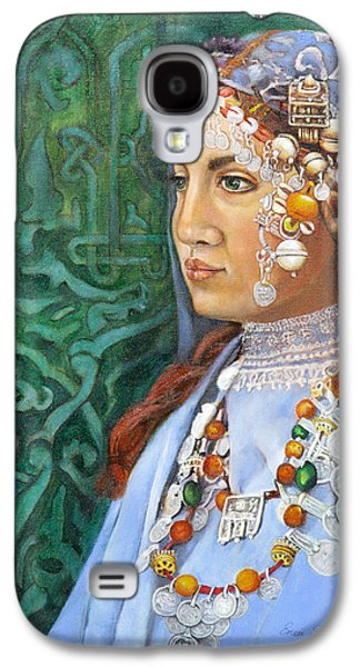 Tribe Paintings Galaxy S4 Cases - Berber Woman Galaxy S4 Case by Enzie Shahmiri