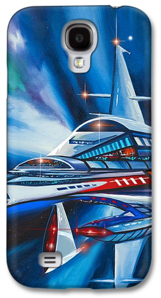 Cosmic Space Paintings Galaxy S4 Cases - Berkey IV Starship Galaxy S4 Case by James Christopher Hill