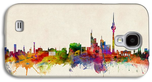 Cityscape Digital Galaxy S4 Cases - Berlin City Skyline Galaxy S4 Case by Michael Tompsett