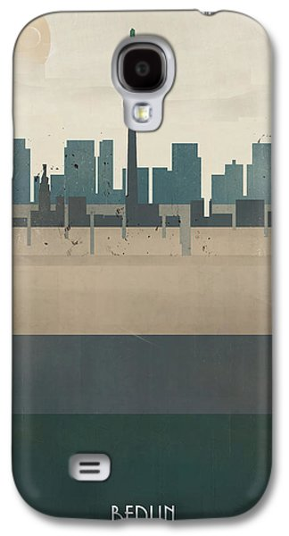 Berlin Germany Paintings Galaxy S4 Cases - Berlin Germany Skyline Galaxy S4 Case by Bri Buckley