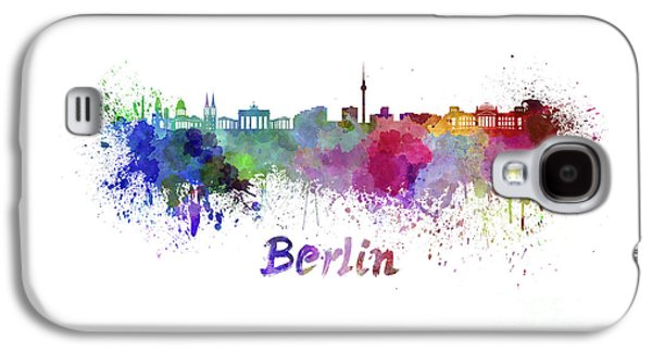 Berlin Germany Paintings Galaxy S4 Cases - Berlin skyline in watercolor Galaxy S4 Case by Pablo Romero