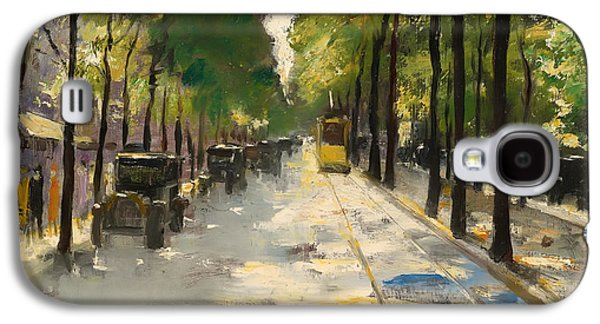 Berlin Germany Paintings Galaxy S4 Cases - Berlin Street 1920s Galaxy S4 Case by Ury