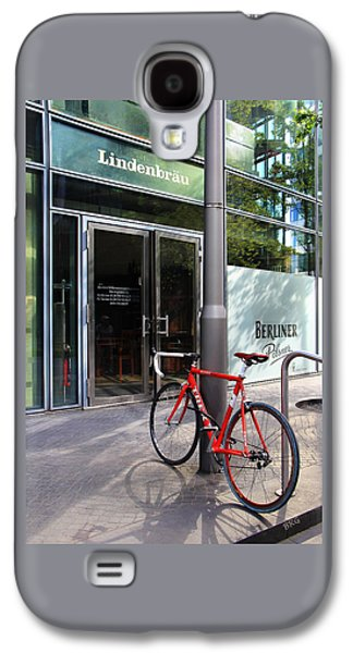 Berliner Pilsner Galaxy S4 Cases - Berlin Street View With Red Bike Galaxy S4 Case by Ben and Raisa Gertsberg
