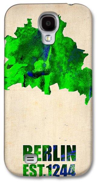 Berlin Germany Galaxy S4 Cases - Berlin Watercolor Map Galaxy S4 Case by Naxart Studio