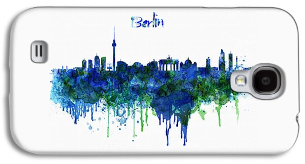 Berlin Germany Galaxy S4 Cases - Berlin watercolor skyline Galaxy S4 Case by Marian Voicu
