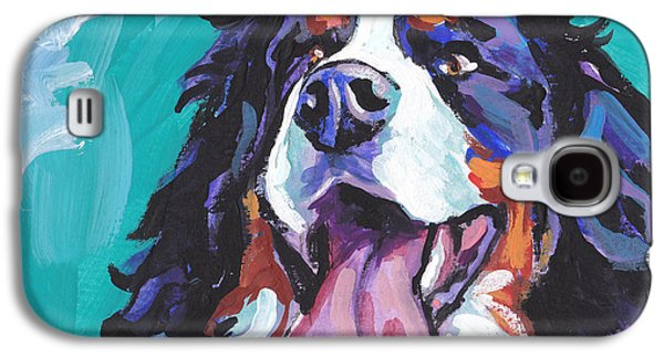 Puppies Galaxy S4 Cases - Berner All Smiles Galaxy S4 Case by Lea