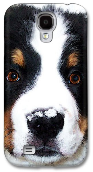 Buy Dog Digital Galaxy S4 Cases - Bernese Mountain Dog - Baby Its Cold Outside Galaxy S4 Case by Sharon Cummings