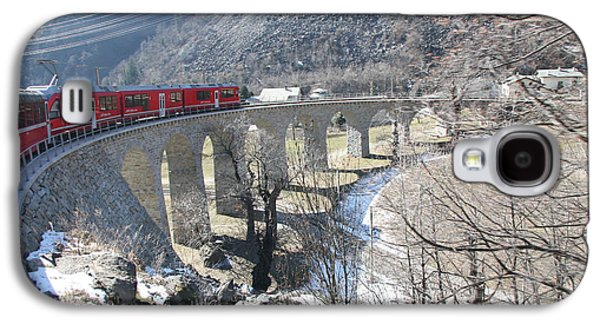 Galaxy S4 Case featuring the photograph Bernina Express In Winter by Travel Pics