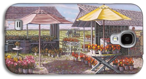 Farmstand Paintings Galaxy S4 Cases - Berries and Bunches Galaxy S4 Case by Gary Long