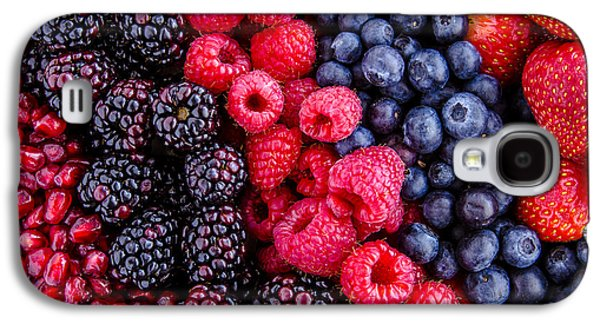 Locally Grown Galaxy S4 Cases - Berry Delicious Galaxy S4 Case by Teri Virbickis