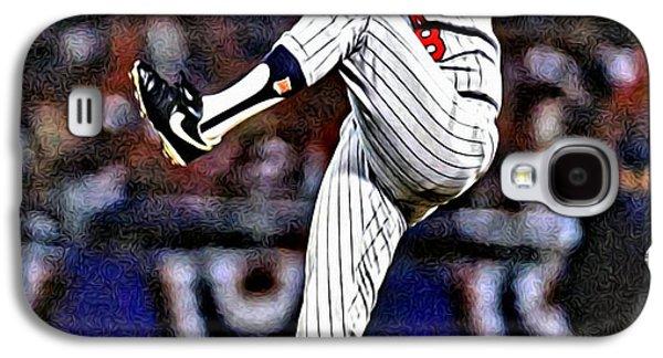Baseball Galaxy S4 Cases - Bert Blyleven Galaxy S4 Case by Florian Rodarte