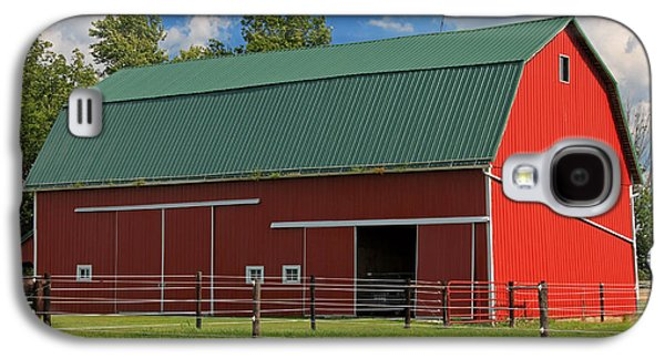 Indiana Scenes Galaxy S4 Cases - Bertch Barn - Monroe Indiana - Adams County Galaxy S4 Case by Suzanne Gaff