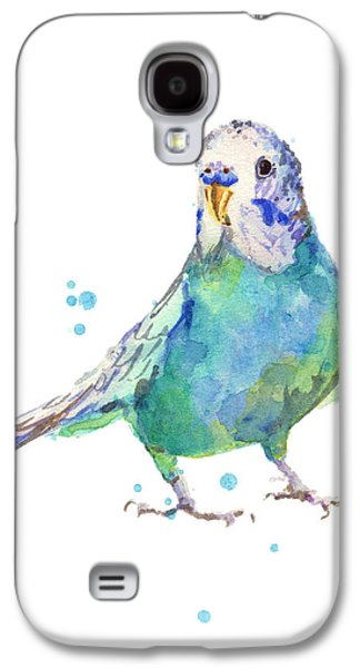 Bertie Wonderblue The Budgie Galaxy S4 Case by Alison Fennell