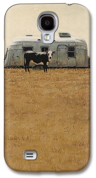 Cows Paintings Galaxy S4 Cases - Bessie Wants To Travel Galaxy S4 Case by Ron Crabb
