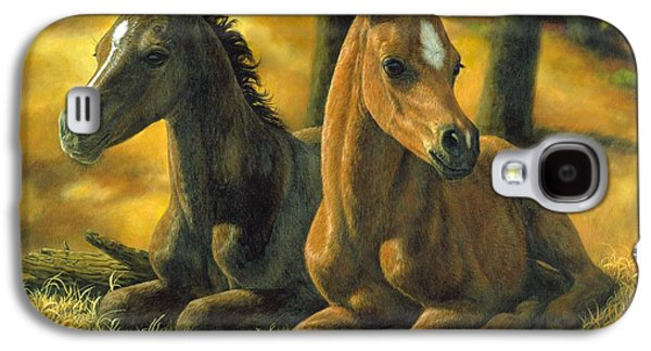 Chestnut Horse Galaxy S4 Cases - Best Friends Galaxy S4 Case by Crista Forest