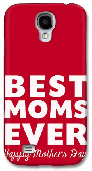 Lesbian Galaxy S4 Cases - Best Moms Card- Red- Two Moms Mothers Day Card Galaxy S4 Case by Linda Woods