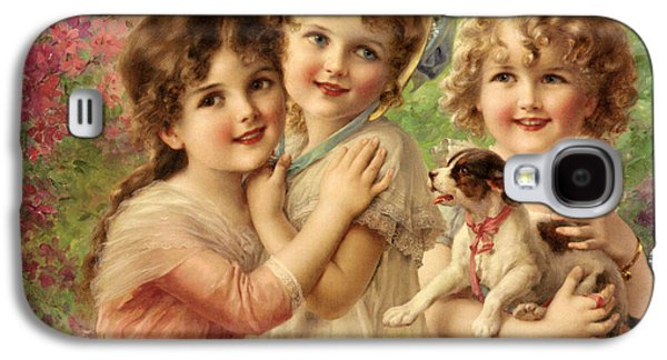 Best Sellers -  - Puppies Digital Art Galaxy S4 Cases - Best Of Friends Galaxy S4 Case by Emile Vernon