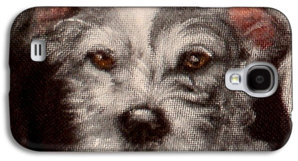 Dog Close-up Paintings Galaxy S4 Cases - Bethany Galaxy S4 Case by Carol Russell