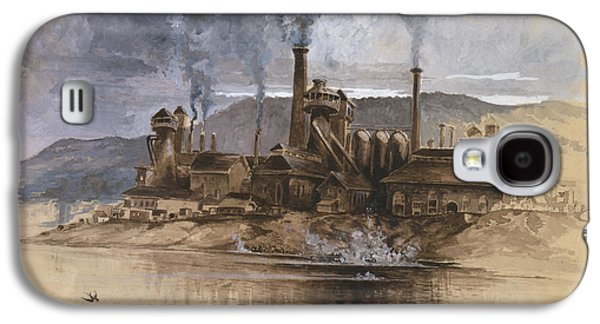 Building Drawings Galaxy S4 Cases - Bethlehem Steel Corporation Circa 1881 Galaxy S4 Case by Aged Pixel