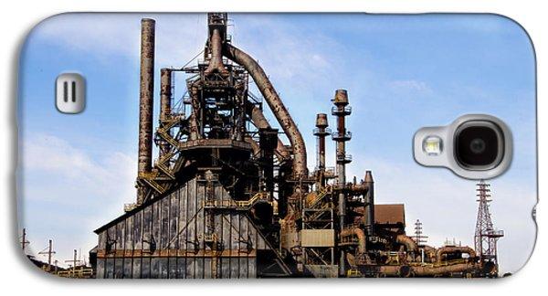 Bethlehem Galaxy S4 Cases - Bethlehem Steel Mill Galaxy S4 Case by Bill Cannon