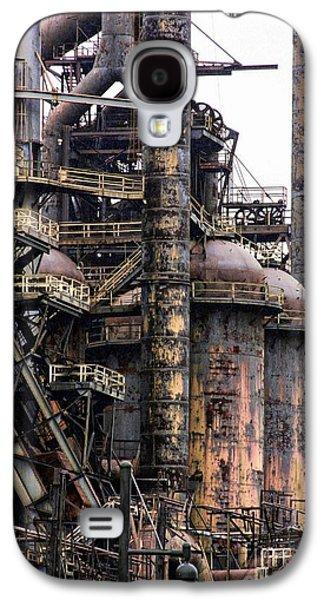 Machinery Galaxy S4 Cases - Bethlehem Steel Series Galaxy S4 Case by Marcia Lee Jones