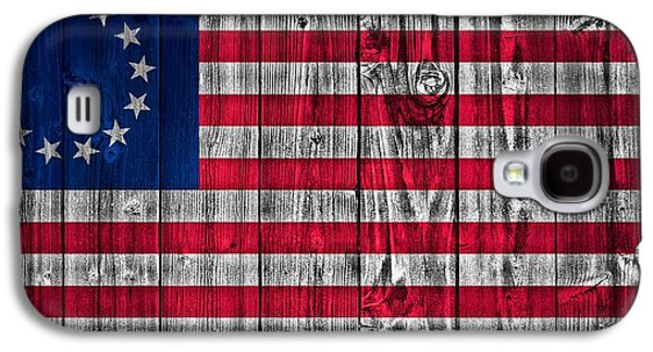 Betsy Galaxy S4 Cases - Betsy Ross American Flag Barn Galaxy S4 Case by Dan Sproul